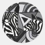 XX cebras del arte abstracto Etiqueta