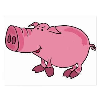 XX cerdo enrrollado Tarjeta Postal