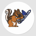 XX- Chipmunk Playing Trombone Cartoon Sticker