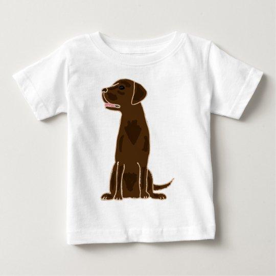 XX- Chocolate Labrador Retriever Puppy Dog Baby T-Shirt