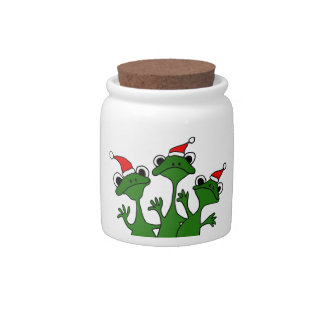 XX- Christmas Tree Frogs Cartoon Candy Jars