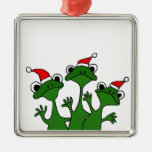 XX- Christmas Tree Frogs Cartoon Christmas Tree Ornament