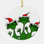 XX- Christmas Tree Frogs Cartoon Ornaments