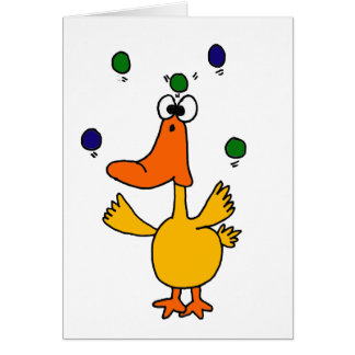 XX- CLUTZ Duck Juggling Design Greeting Card