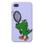 XX cocodrilo divertido que juega a tenis iPhone 4 Cobertura