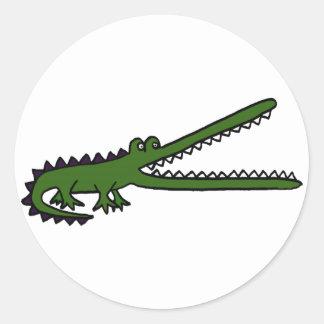 XX cocodrilo impresionante Pegatina Redonda