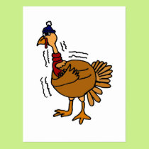 XX- Cold Turkey Cartoon Postcard