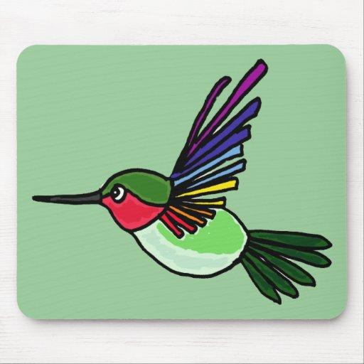 XX colibrí impresionante del arco iris Alfombrillas De Ratones