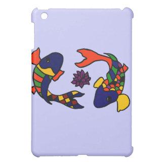 XX- Colorful Koi Fish Art Cartoon iPad Mini Cases