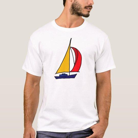 XX- Colorful Sail boat T-Shirt
