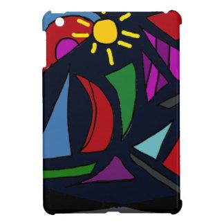 XX- Colorful Sailboats Abstract Art iPad Mini Covers