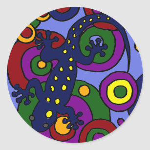 salamander cartoon stickers sticker designs zazzle
