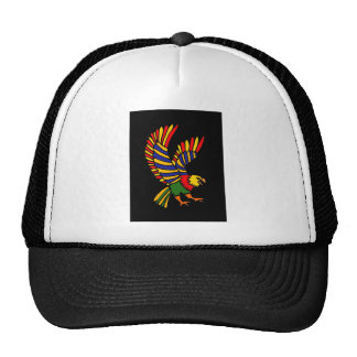 XX- Colorful Soaring Eagle Folk Art Trucker Hat