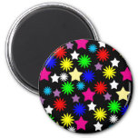 XX- Colorful Stars Patter 2 Inch Round Magnet