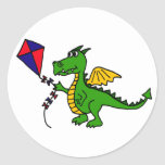 XX cometa hilarante del vuelo del dragón Pegatina
