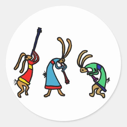 XX conejos de conejito de baile Pegatina Redonda