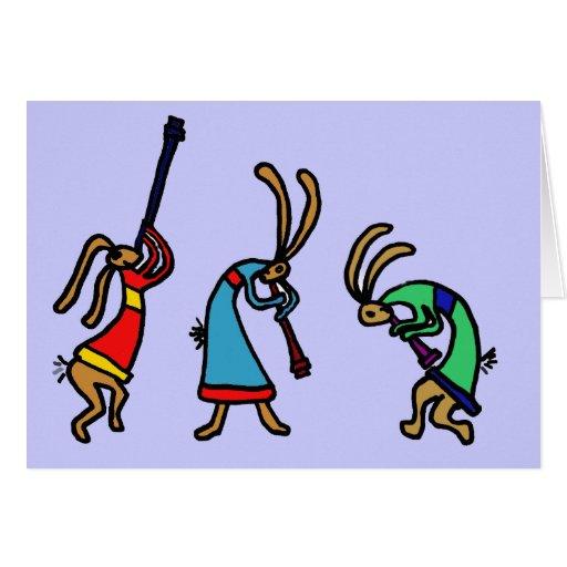 XX conejos de conejito de baile Tarjetas
