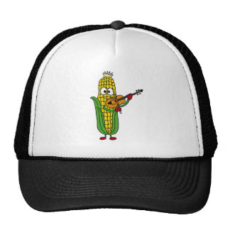 XX- Corn Playing Fiddle or Violin Mesh Hat