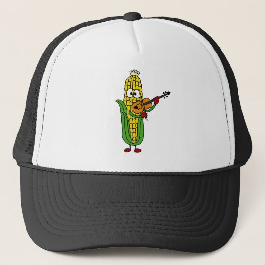 XX- Corn Playing Fiddle or Violin Trucker Hat