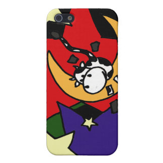 XX- Cow Jumping Over the Moon with Stars Cover For iPhone SE/5/5s