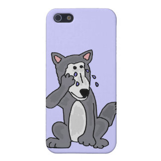 XX- Crying Wolf Cartoon iPhone 5 Cases