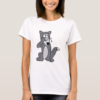 XX- Crying Wolf Cartoon T-Shirt
