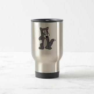 XX- Crying Wolf Cartoon Travel Mug