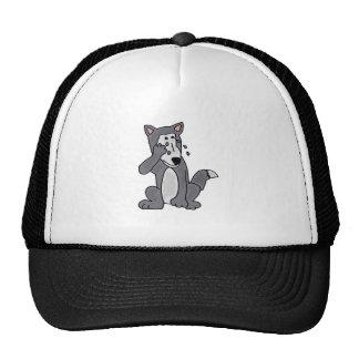 XX- Crying Wolf Cartoon Trucker Hat