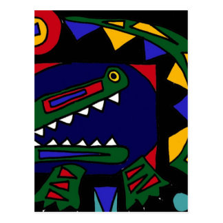 XX- Cubist Art Alligator Postcard