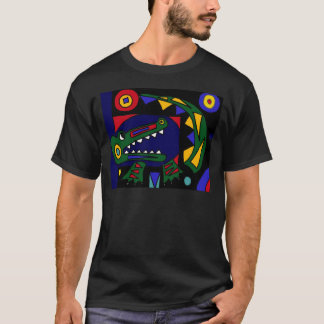XX- Cubist Art Alligator T-Shirt