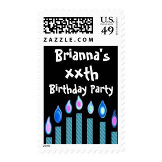 xx cumpleaños con Oodles de velas azules Sello