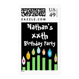 xx cumpleaños con Oodles de velas verdes Sellos