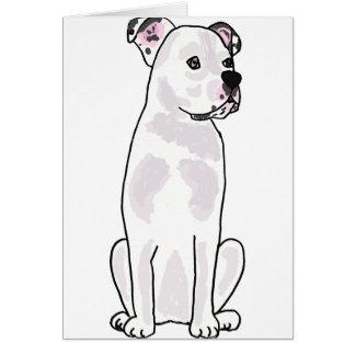 XX- Cute American Bulldog with Studded Collar Card