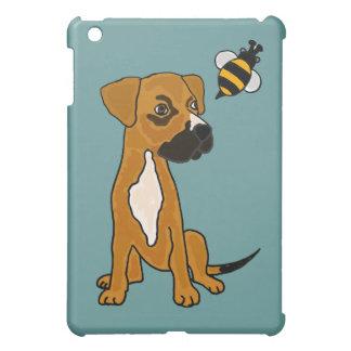 XX- Cute Box Puppy and Bee Cartoon iPad Mini Cases