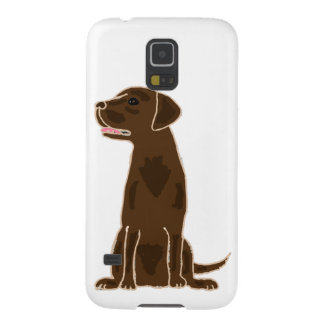 XX- Cute Chocolate Labrador Retriever Galaxy S5 Cover