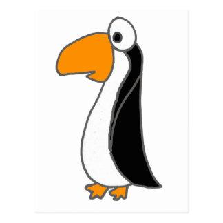 XX- Cute Funny Penguin Cartoon Postcard
