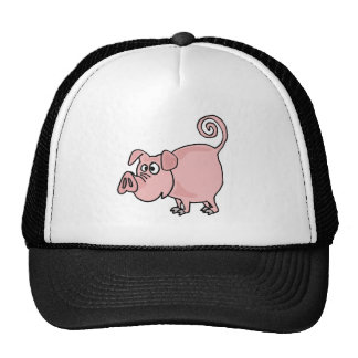 XX- Cute Funny Pink Pig Cartoon Trucker Hat