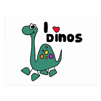XX- Cute I Love Dinos Design Postcard