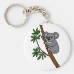 XX- Cute Koala Bear Basic Round Button Keychain