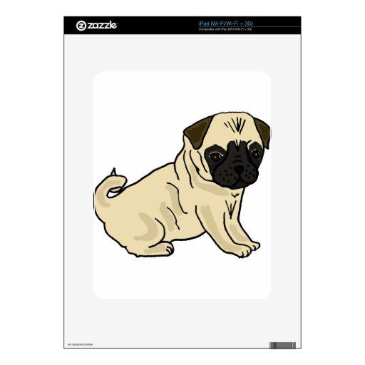 XX- Cute Pug Puppy Dog Cartoon iPad Decals