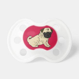 XX- Cute Pug Puppy Dog Cartoon Pacifiers