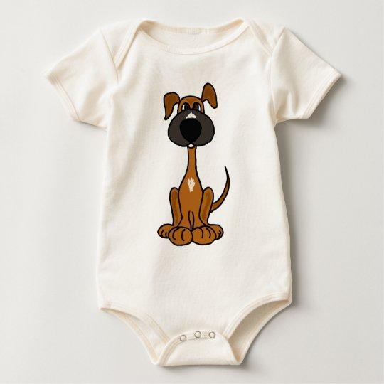 XX- Cute Puppy Dog Cartoon Baby Bodysuit