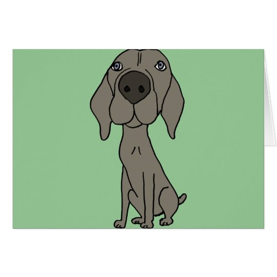 XX- Cute Weimaraner Design Card