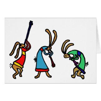 XX- Dancing Bunny Rabbits Card