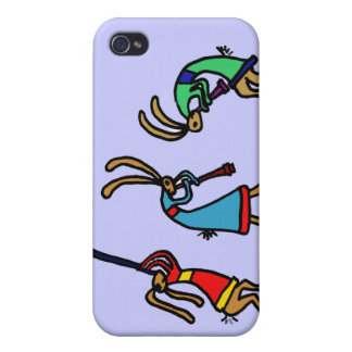 XX- Dancing Bunny Rabbits iPhone 4/4S Cases