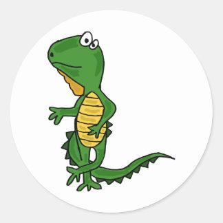 XX- Dancing Iguana Classic Round Sticker