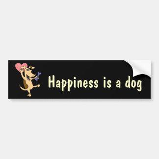 XX- Dancing Puppy Dog Love Car Bumper Sticker