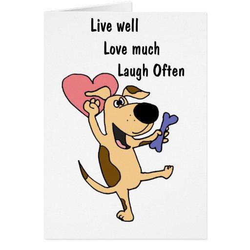 XX- Dancing Puppy Dog Love Greeting Card