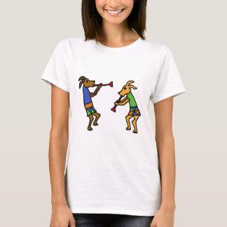 XX dibujo animado de baile de los perros Playera