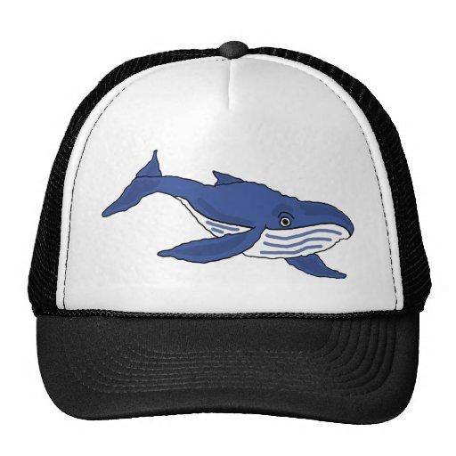 XX dibujo animado de la ballena azul Gorras De Camionero